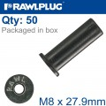 RAWLNUT M8X27.9MM X50-BOX