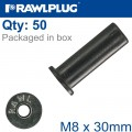 RAWLNUT M8X30MM X50-BOX
