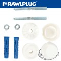 WASHBASIN MOUNTING KIT WITH 10MM 4ALL PLUGS AND SCREWS
