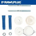 WASHBASIN MOUNTING KIT WITH 12MM 4ALL PLUGS AND SCREWS