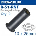 RAWLNUT M10X55MM X2-BAG