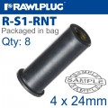 RAWLNUT M4X24MM X8-BAG