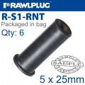 RAWLNUT M5X25MM X6-BAG