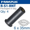 RAWLNUT M6X35MM X4-BAG