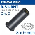 RAWLNUT M8X50MM X2-BAG