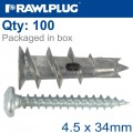 SELF DRILL PLASTERBOARD WITH SCREW 100 PSC PER TUB