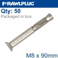R-SPL SAFETY PLUS - COUNTERSUNK M8X90MM X50 PER BOX