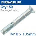 R-SPL SAFETY PLUS - COUNTERSUNK M10X105MM X50 PER BOX