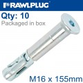 R-SPL SAFETY PLUS - COUNTERSUNK M16X155MM X10 PER BOX