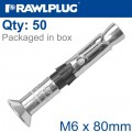 R-SPL II SAFETY PLUS - COUNTERSUNK M6X80MM X50 PER BOX