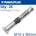 R-SPL II SAFETY PLUS - COUNTERSUNK M10X90MM X20 PER BOX
