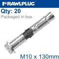 R-SPL II SAFETY PLUS - LOOSE BOLT M10X130MM X20 PER BOX