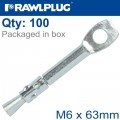 CEILING FIXNING M6X63MM WIRE HANGER FOR SUSPENDED CEILING X100-BOX