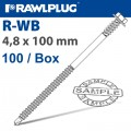 WB SELF-DRILLING SCREW FOR STEEL WITH DOUBLE THREAD BOX OF 100