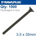 SELF DRILLING DRYWALL SCREW 3.5MMX35MM X1000-BOX