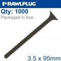 SELF DRILLING DRYWALL SCREW 3.5MMX95MM X1000-BOX