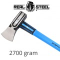AXE HAMMER HEAD GRAPH. HANDLE REAL STEEL