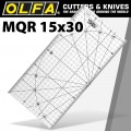 METRIC QUILT RULER 15CM X 30CM - METRIC GRID