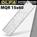 METRIC QUILT RULER 15CM X 60CM - METRIC GRID