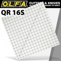 "QUILT RULER 16"" X 16"" SQUARE WITH GRID"
