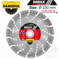 DIAMOND BLADE 230MM SEGMENTED IND REINF. CONCRETE LONG LIFE SHOXX BX13