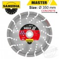 DIAMOND BLADE 350MM X 30/25.4 SEGMENTED IND REINF. CONCRETE LONG LIFE