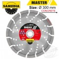 DIAMOND BLADE 300MM X 25.4/20 SEGMENTED IND REINF. CONCRETE LONG LIFE
