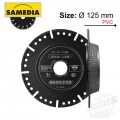 DIAMOND BLADE SEGMENTED 125MM X 22.23 IND SPECIAL CUT & BEVEL MASTER P