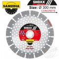 DIAMOND BLADE 300MM X 20 SEGMENTED IND REINF. CONCRETE LONG LIFE SHOXX