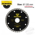 DIAMOND BLADE 125MM X 22.23 SEGMENTED IND MULTI PURPOSE SOLID MTS