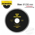 DIAMOND BLADE 230MM X 22.23 CONTINIOUS IND PORCELAIN & CERAMICS SOLID