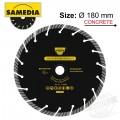 DIAMOND BLADE 180 X 22.23 5MM TURBO SEGM. IND MASONRY BRICKWORK SOLID