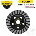 DIAMOND CUP WHEEL 110MM X 22.23 IND. SPECIAL SOLID STS