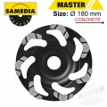 DIAMOND CUP WHEEL 180MM X 22.23 IND. SPECIAL MASTER STU