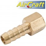 HOSE TAIL CONNECTOR BRASS 1/4F X 12MM