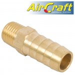 HOSE TAIL CONNECTOR BRASS 1/4M X 13MM