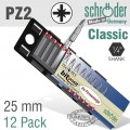 POZI.NO.2X25MM 12 PER PACK