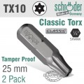 TORX TAMPER RESIST T10H 25 2CD