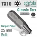 TORX TAMPER RESIST.T10 25MM