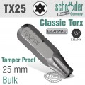 TORX TAMPER RESIST.T25H X 25MM