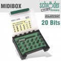MIDI-BOX 21 PCE PH PZ HEX TX SLOT SQ WITH MAG BIT HOLDER