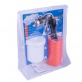 GRAV FEED SPRAY GUN 1.5MM NOZZLE WITH 5M SPIRAL HOSE