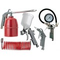 FIVE PCE KIT G FEED SP GUN AIR DUST PAR WASHER TYRE INF & SPIR HOSE