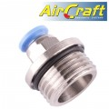 "PU FITTING STR. STUD W/O-RING 6MM-1/2"" M"