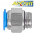 "PU FITTING STR. STUD W/O-RING 12MM-3/8"" M"