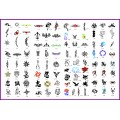 BOOK 02 TATTOO STENCILS 100 designs per book 4 designs on ea  A4 sheet