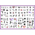BOOK 03 TATTOO STENCILS 100 designs per book 4 designs on ea  A4 sheet
