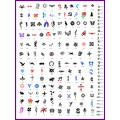 BOOK 04 TATTOO STENCILS 160 designs 16 designs on each A4 sheet