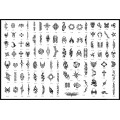BOOK 08 TATTOO STENCILS 100 designs per book 4 designs on ea A4 sheet