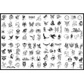 BOOK 09 TATTOO STENCILS 100 designs per book 4 designs on ea A4 sheet